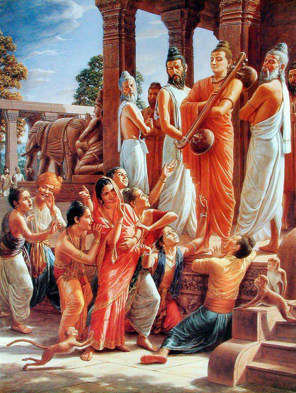 Narad & Vishwamitra visit Dwarka - Samba dressed as a Woman Insult The Sages