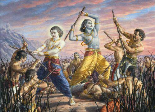 Pradyumna - Son of Krishna Fighting - Curse to krishna