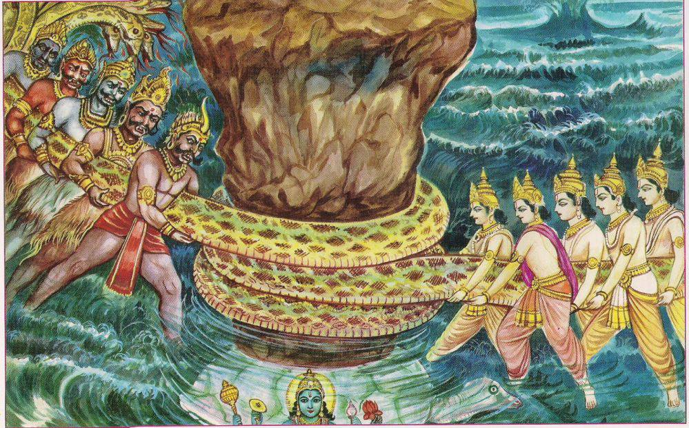 Samudra Manthan - The Churning of the Ocean of Milk