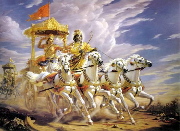 Bhagvad Gita Krishna and Arjuna