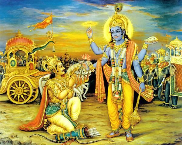 Krishna Gives Divine Darshan to Arjuna - Bhagvad Gita