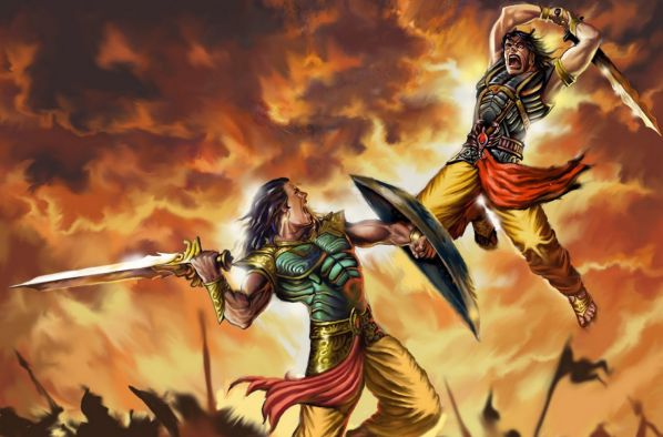 Abhimanyu and The Chak... Famous Spiritual Paintings