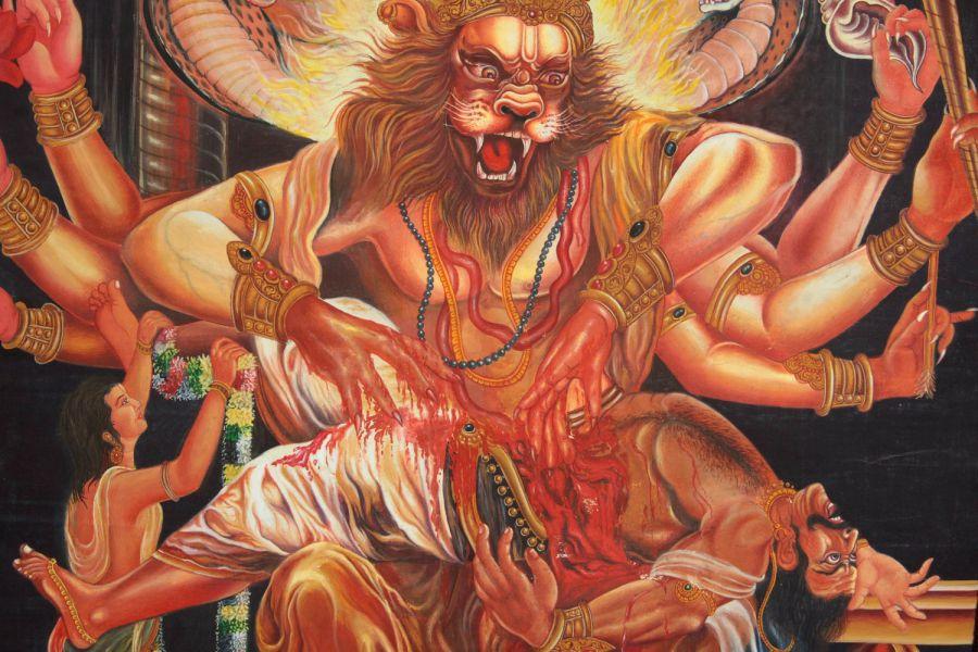 the story of lord narasimha prahlada and hiranyakashipu