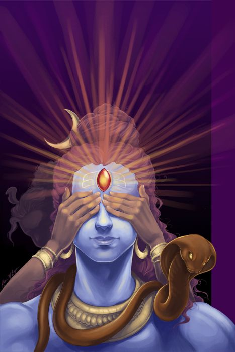 Image result for lord shiva third eye