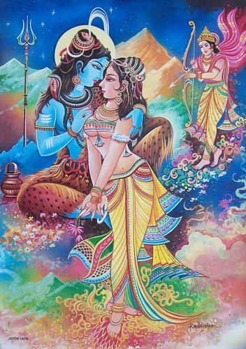New Popular Beautiful God Shiva Sati Parvati and Kamdev Photos for free download