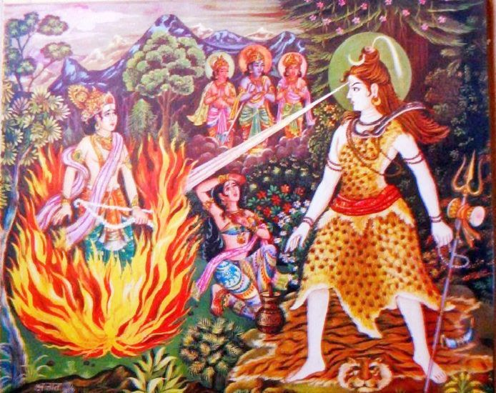 Why did lord shiva punish kamadeva and reduce him to ashes