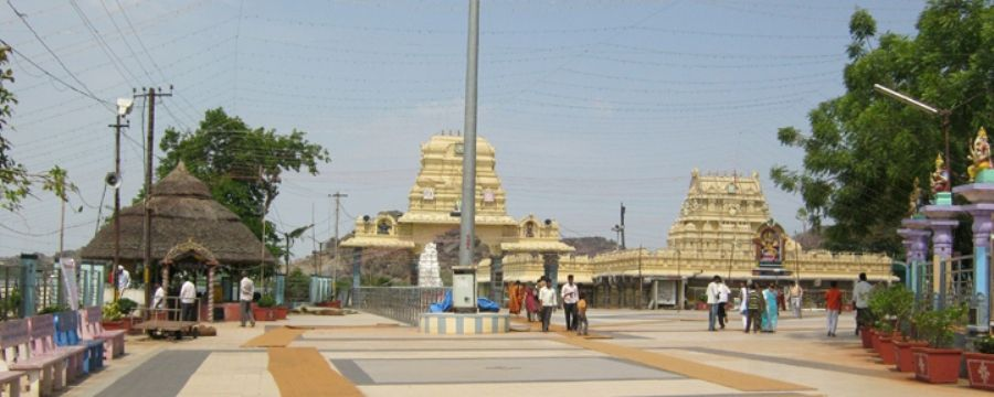 It is located on top of a hillock at a 5 Kms distance from railway station of Warangal. The temple is famous for the idol of 2.7 meter stone in a sitting posture with eight arms and a weapon in each hand.