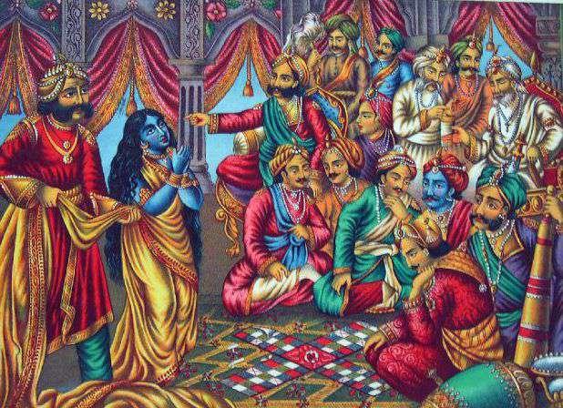 Krishna During Cheer Haran - Saving Draupadi