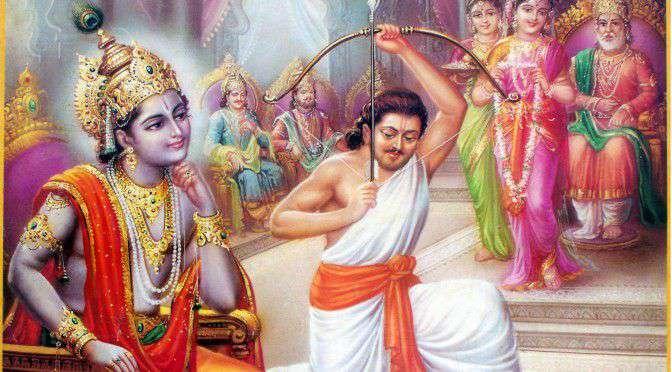 Krishna Watches Arjun During Draupadi Swayamvara
