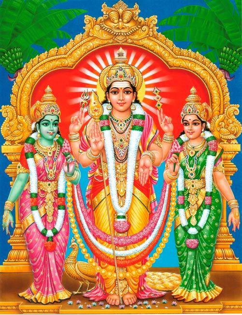 Murugan and His Two Wives - valli and Devasena