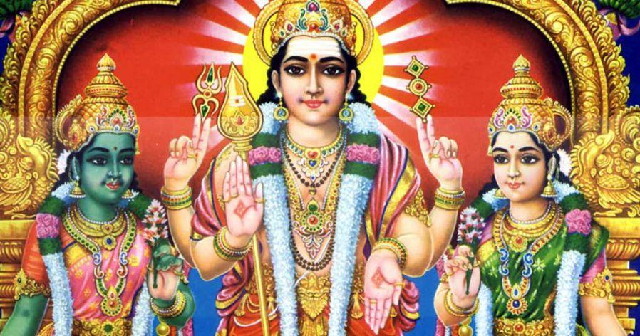 Murugan and His Two Wives - Valli and Devasena or Devayani