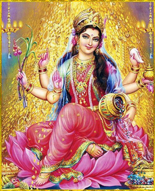 Goddess Lakshmi Marriage to Lord Vishnu