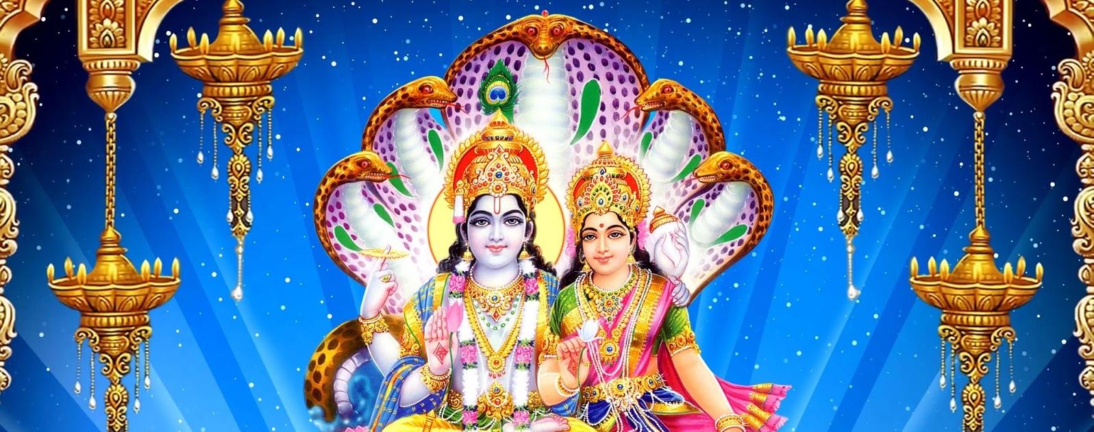Image result for vishnu with lakshmi