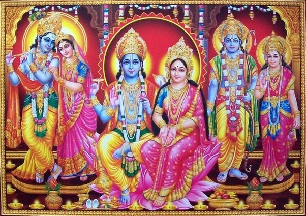 Why is lord krishna and lord rama blue in color freerunsca Choice Image
